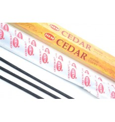 Incense fragrance Cedar. Lot of 100 sticks brand HEM
