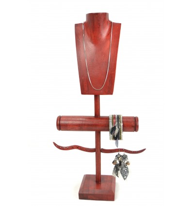 Display Jewelry multi-function solid wood red hue