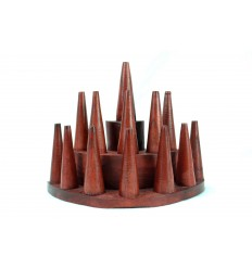 Door-rings / Display stand for rings (13 cones) in wood-red hue