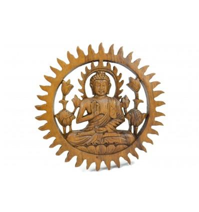 Decor wall Buddha exotic wood diam. 20cm