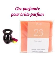 """Pastilles de cire parfumée, senteur """"Papaye"""" par Drake"""