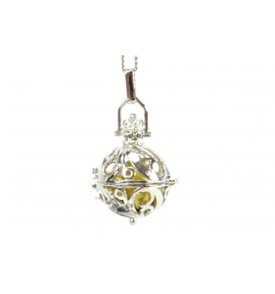 Bola gravidanza con catena in metallo color argento