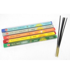 Assortment of incense Feng Shui 5 scents 40 sticks brand HEM