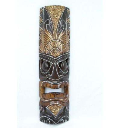 Maschera Tiki h50cm legno. Deco, maori, i mestieri del mondo.
