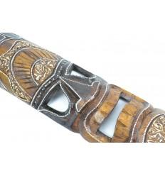 Masque Tiki Polynésien h50cm en bois. Décoration exotique.