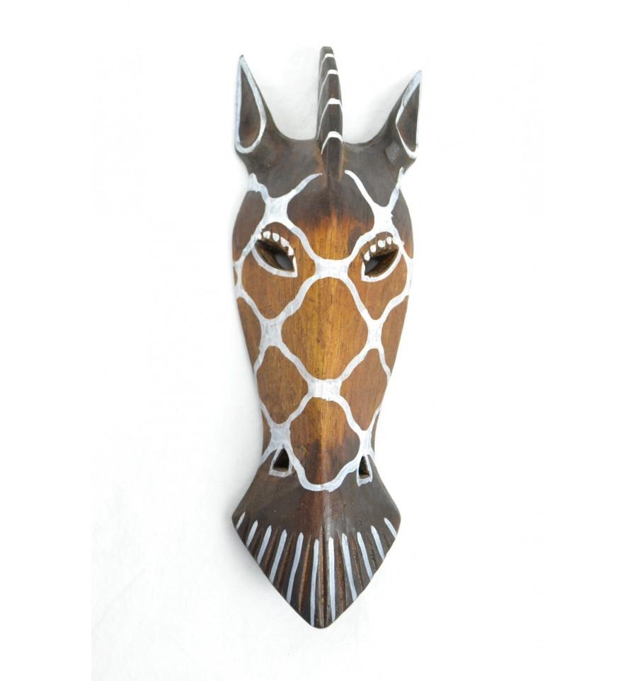 Acheter masque z bre en bois pas cher d coration ethnique for Deco murale zebre