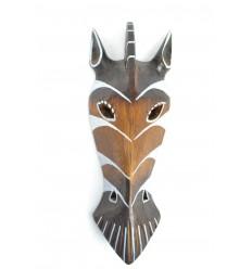 Masque Zèbre en bois 30cm décoration africaine.