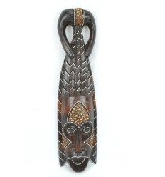 African mask wood 50cm tribal style. Handcrafted.