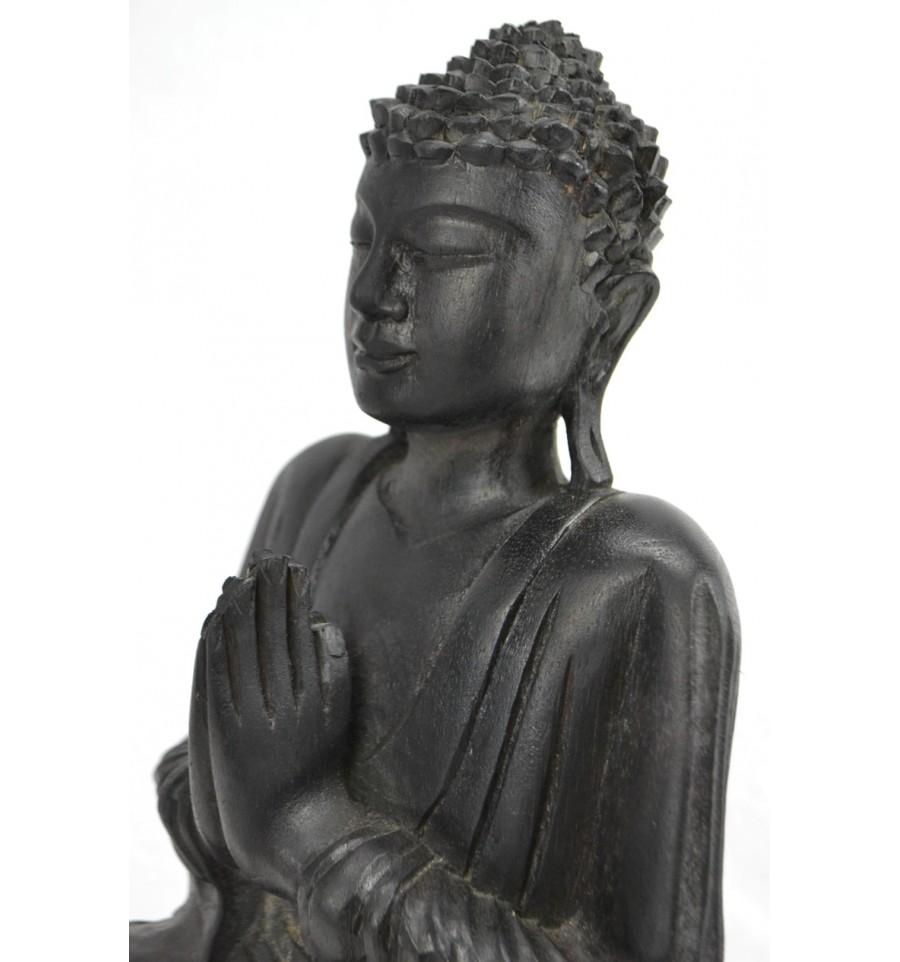 Bouddha Rieur Signification Position détails sur statue de bouddha assis anjali mudra en bois finition noir  ébène h30cm