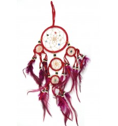 Dreamcatcher / catch dreams indian red 35 x 15cm handmade