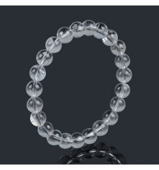 Bracelet Lithotherapie en Cristal de Roche - Force et Protection