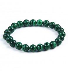 Bracelet Lithotherapie in Malachite - Protection, healing, clairvoyance.