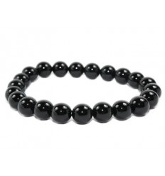 Bracelet Lithotherapie Agate Black natural - balance the energies, protects the pregnancy.