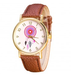 "Watch fantasy wife ""Dreamcatcher"" pattern Catcher Dream - bracelet brown"