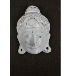 Petit Masque de Bouddha mural H15cm en bois. Fabrication artisanale de Bali.