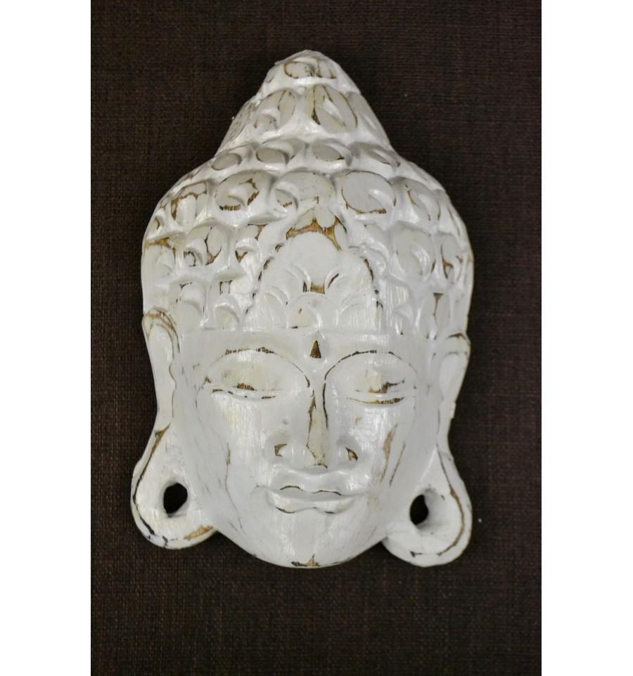 masque visage de bouddha bois patin style vintage d co. Black Bedroom Furniture Sets. Home Design Ideas
