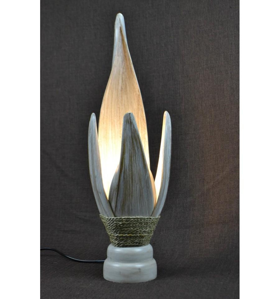 Lampe De Chevet Ethnique Chic Exotique Originale Feuille De Cocotier