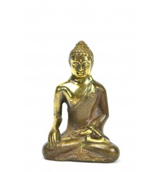 Statuette Buddha Bhumisparsa Mûdra bronze h7cm.