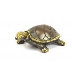 Statuetta deco Tartaruga di terra di bronzo. Creazione di artigianato.