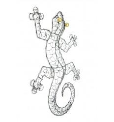 Gecko Margouillat decorazione murale in ferro battuto 50cm