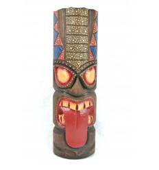 Maschera Tiki Polinesiana h50cm legno. Decorazione Di Tahiti.