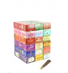 "Mégapack ""1 year Incense Top Quality"". Assortment 18 fragrances / 360 sticks. Brand HEM."