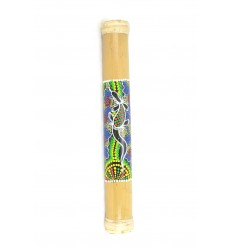 Rainstick 40cm, Bastone della Pioggia di bambù, dipinto a mano.