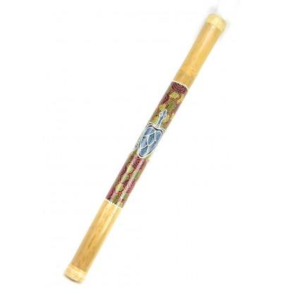 Large Rain stick bamboo Rainstick 80cm decor hand painted.