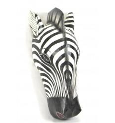 Maschera / Trofeo Testa di Zebra 50cm di legno. Creazione di artigianato.