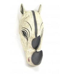 Masque / Trophée Tête de Rhinocéros 50cm en bois. Création artisanale.