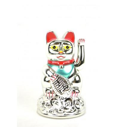 Maneki neko / Gatto giapponese argento - buona fortuna