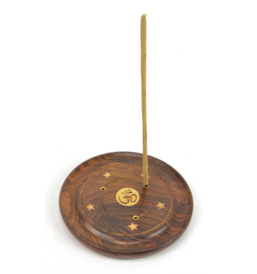 Porte encens indien pas cher en bois et laiton livraison for Porte encens