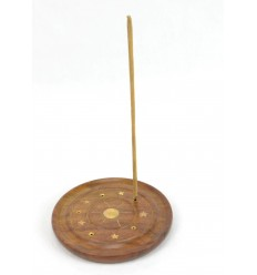 Incense holders in wood for cones and sticks - ground Sun