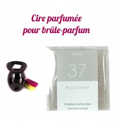 "Pastilles de cire parfumée, senteur ""Bois d'olivier"" par Drake"
