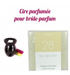 "Pastilles de cire parfumée, senteur ""Fleur de Coton"" par Drake"