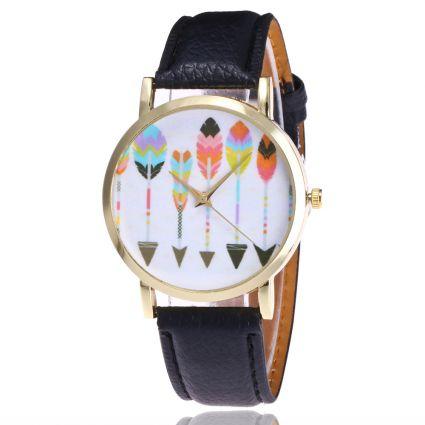 Watch fantasy woman pattern-Arrows - bracelet leatherette. Free shipping !