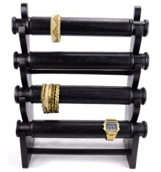 Great display for bracelets and watches 4 levels wood black