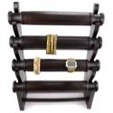 Grand présentoir à bracelets 4 niveaux en bois, professionnel grossiste.