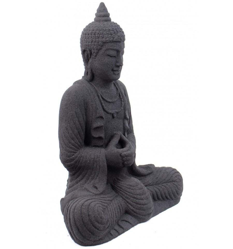 statue de bouddha en pierre de java noire h28cm eur 34. Black Bedroom Furniture Sets. Home Design Ideas