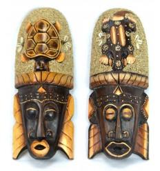 Achat masque africain mural en bois pas cher.