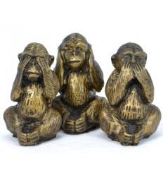"""Statuettes """"Les 3 singes de la sagesse"""" achat pas cher"""