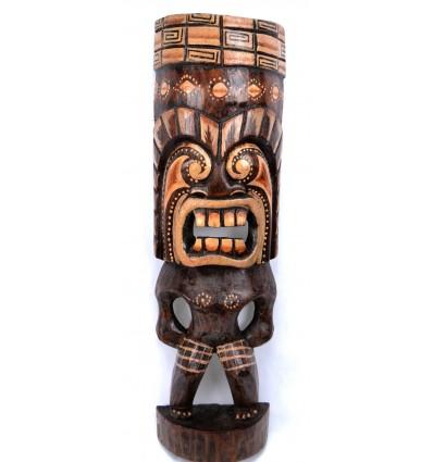 Statua Tiki legno, decorazione Polinesia.