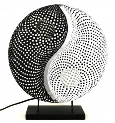 "Bedside lamp ""Yin Yang"". Decorating Zen asian."
