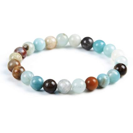 Bracelet Lithotherapie in Amazonite natural - Soothing, spontaneity, anti-stress,