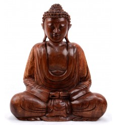 Statue of Buddha sitting in lotus. Crafts of Asia.