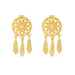 Earrings catch-dreams of steel golden