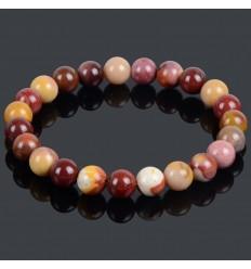 Bracelet Lithothérapie en Jaspe multicolore - Sérénité, tranquillité et confiance