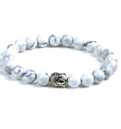 Achat bracelet en Howlite naturelle pas cher. Livraison gratuite.