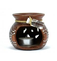 Bruciatore di incenso a mano a Bali + 1 olio profumato fornito.