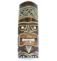 Maschera Tiki h30cm legno modello colorato. Deco Tiki.